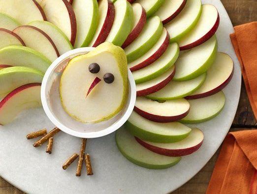 Thanksgiving Turkey Fruit and Yogurt Dip