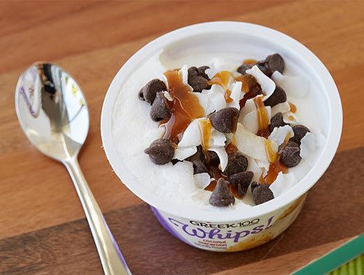 Caramel Chocolate Coconut Macaroon Cup