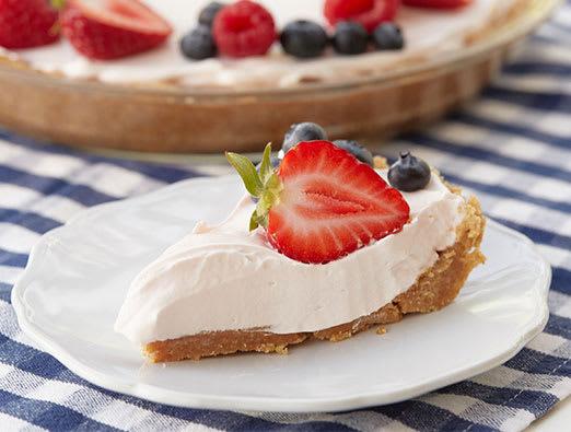 No-Bake Rainbow Sherbet Pie