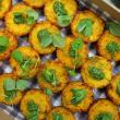 Pumpkin & basil pesto risotto cake