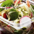 Zucchini noodles with pesto and chargrilled vegetables