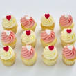 Vanilla mini cupcakes (12 pcs)