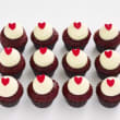 Red velvet mini cupcakes (12 pcs)