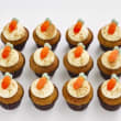 Carrot mini cupcakes (12 pcs)