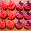 Butterfly mini cupcakes (12 pcs)