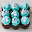 Baby boy mini cupcakes (12 pcs)