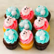 Baby boy & girl mixed mini cupcakes (12 pcs)