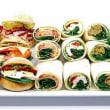 Wraps & rolls platter (12 pcs)