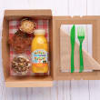 Vegetarian breakfast box (pp)