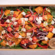 Pumpkin, beetroot & feta salad