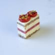 Mini  Strawberry, cream & pistachio cakes (H) (15 pcs)