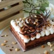 Dark Chocolate & Hazelnut Crunch Mousse Cake (H)