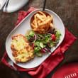 Parma, chips & salad
