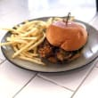 Eggplant veggie burger