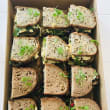 Assorted breakfast sourdough sandwiches