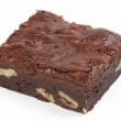 Chocolate pecan brownie slice