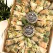 Vietnamese rice paper roll platter