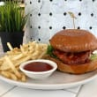 Korean style chicken burger