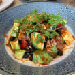 Spicy smoked salmon & avocado salad