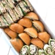 Assorted breakfast sandwiches, rolls & wraps