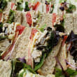 Assorted triangle finger sandwiches