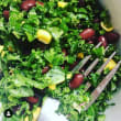 Zingy Kale, Black Bean salad