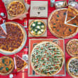 "Choice of 8 large 12"" pizzas (10 pax)"