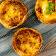 Bacon, mozzarella & egg tart