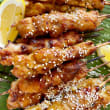 Satay chicken skewers (DF)