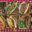 American style gourmet hut dogs