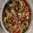 Chilli basil stir-fry + rice (DF) (pp)