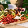 The veggie patch dip platter
