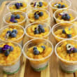 Peaches & cream chia pots