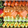 Deluxe Rainbow Sushi Sashimi Platter (52 pcs)