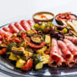 Traditional antipasto platter