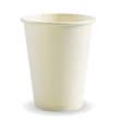 DSDRBC12W CUP PAPER SINGLE WALL 340ML 12OZ WHITE BIOPAK (CT1000)