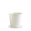 DSDRBC4W CUP PAPER SINGLE WALL 114ML 4OZ WHITE BIOPAK (CT2000)