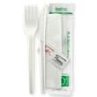 DSCUCP65 CUTLERY PACK BIOPLASTIC PLA - KNIFE/FORK/NAPKIN/SALT/ PEPPER BIOPAK (CT250)