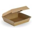 DSTFBD02 DINNER BOX BIOBOARD 178X160X80MM BROWN BIOPAK (CT150)