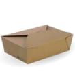 DSTFLB3 LUNCH BOX BIOBOARD LARGE 197X140X64MM BROWN BIOPAK (CT200)
