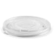 DSTTLB16 LID FLAT ROUND PLASTIC FOR BIOBOWL PAPER 427-963ML CLEAR BIOPAK (CT1000)