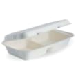 DSTFBC56 CONTAINER CLAMSHELL RECT 2 COMP 277X163X60MM WHITE BIOPAK (CT100)