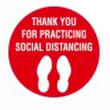 SISY503 SIGN - THANK YOU FOR PRACTISING SOCIAL DISTANCING - FLOOR MARKING 300MM