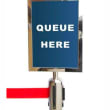 VQ2401 SIGN HOLDER A4 S/S FOR CROWD CONTROL STAND RETRACTA Q