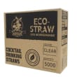 DSSC02B STRAW COCKTAIL PLASTIC CLEAR BIODEGRADABLE 135MM (CT5000)
