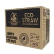 DSSE03 STRAW JUMBO PLASTIC CLEAR BIODEGRADABLE 200MM (CT3000)