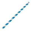 DSSR15 STRAW REGULAR PAPER BLUE & WHITE STRIPED 205MM (CT2500)