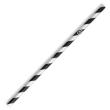 DSSR12 STRAW REGULAR PAPER BLACK & WHITE STRIPED 205MM (CT2500)