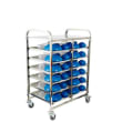 HCTR23 MEAL DELIVERY TROLLEY S/S 6 TIER - 12 TRAY 960X640X1300MM KH