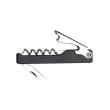 BNOP37 BOTTLE OPENER WAITERS FRIEND BLACK PLASTIC W/KNIFE STANDARD
